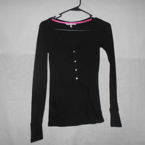 Victoria's Secret Long-sleeve Black XS Extra Small